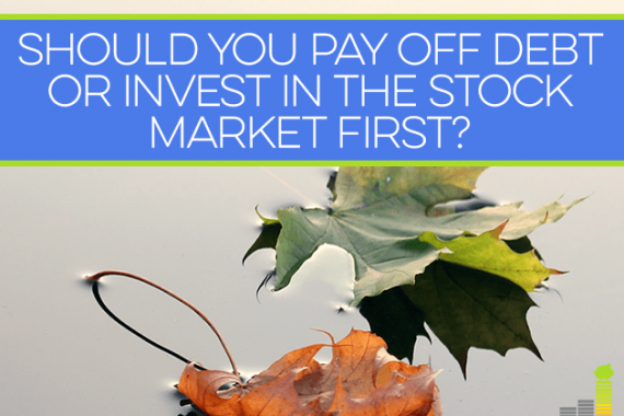 If you have debt, you may be wondering what to do first: pay off debt, or invest? Here's a little advice that will help.