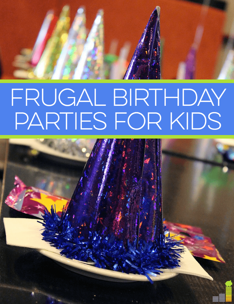 Birthday parties for your kids don't have to be expensive. Here are a few frugal ideas to keep the birthday budget in line!