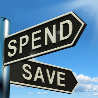 Between spending and saving