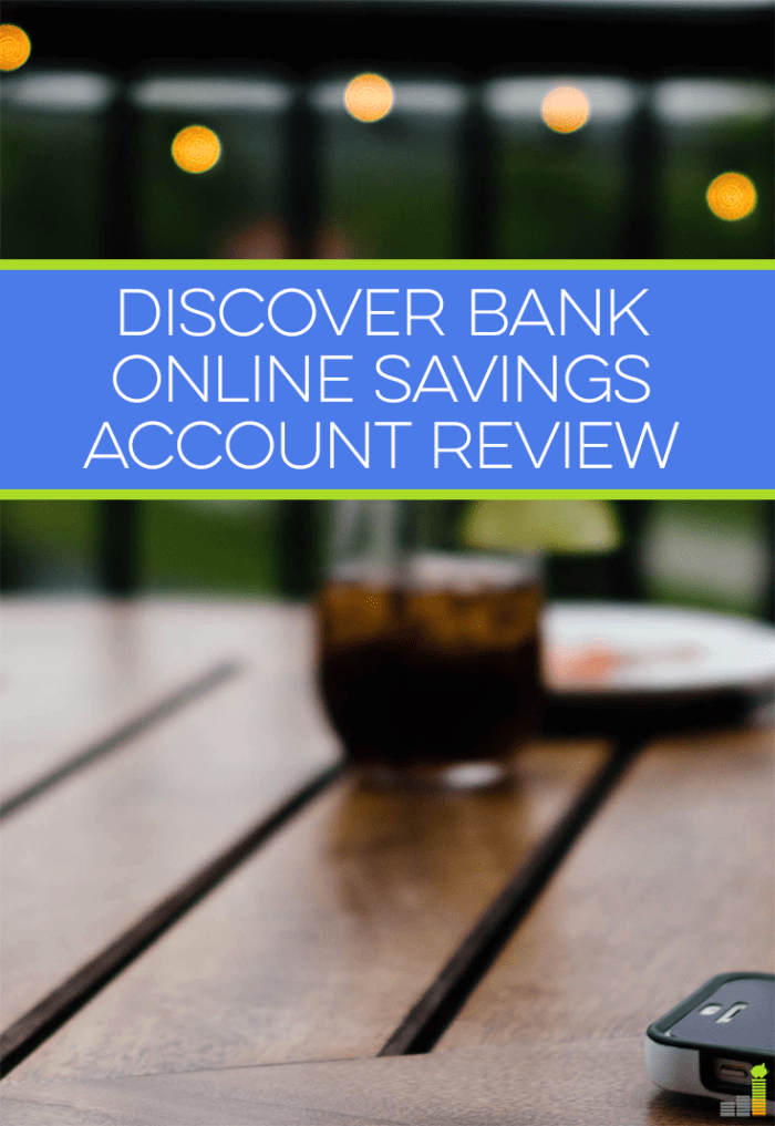 Discover Bank online savings accounts pay .95% with no minimum balance requirement. Read my Discover Bank review to see how easy it is for me to use.