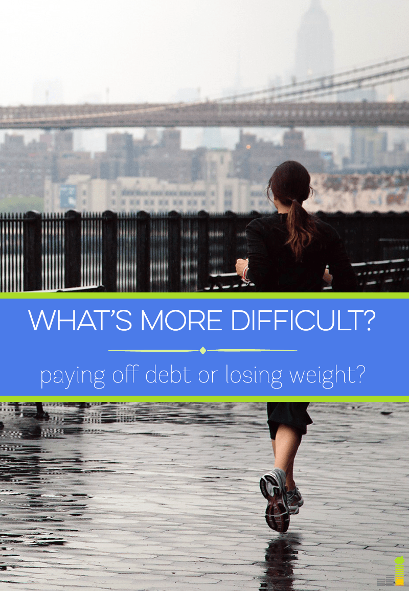 Which is harder - paying off debt, or losing weight? I share my experience with both and compare the two.