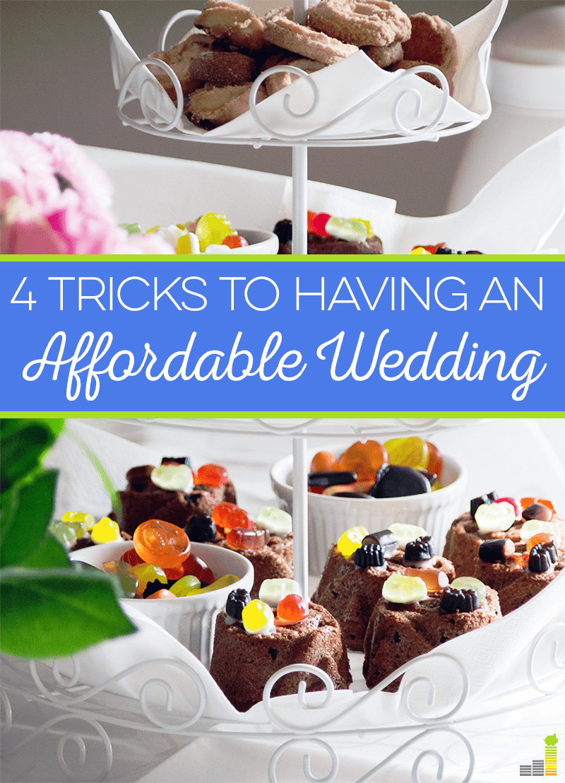 An affordable wedding can be difficult to achieve with sky high prices these days, but with these four tricks you can definitely bring the cost down.