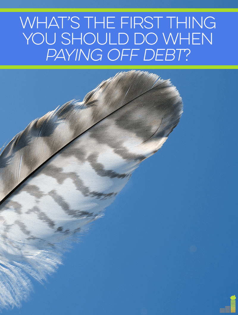 Paying off debt involves many things, but what do you think is the first thing needed to break the cycle of debt? The answer may surprise you, but it works!