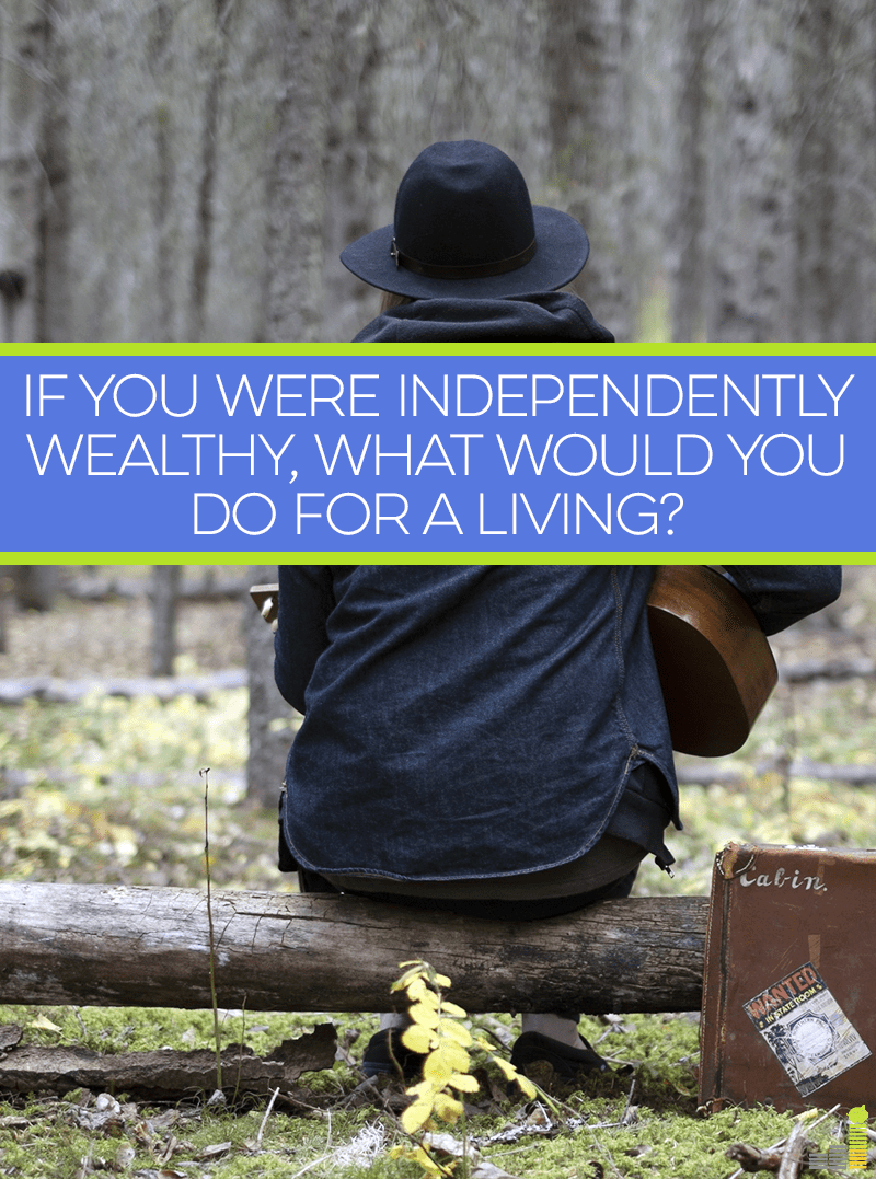 Being independently wealthy means you'd be able to make your own job opportunities, or do any work you like. What would you do?