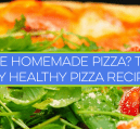 I use this healthy pizza recipe to make barbecue chicken pizza for myself every week. It starts with organic whole wheat flour and low sugar bbq sauce.