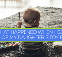 I got rid of my daughter's toy box as a way to cut down on clutter. I thought she would hate it, but she loved it. Does your child have too many toys?