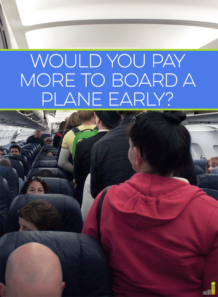 People might not love the act of flying, but they have no problem paying a little more to board the plane early. Do you pay more for priority boarding?