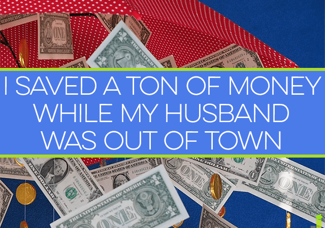 My husband was out of town and although I thought it would be the most expensive month ever, I actually saved a ton of money. Here are tips to do the same.