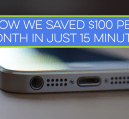 We've saved $100 per month, in just 15 minutes, by switching cell phone providers. If you want to save money on your cell phone bill, see how we did it!