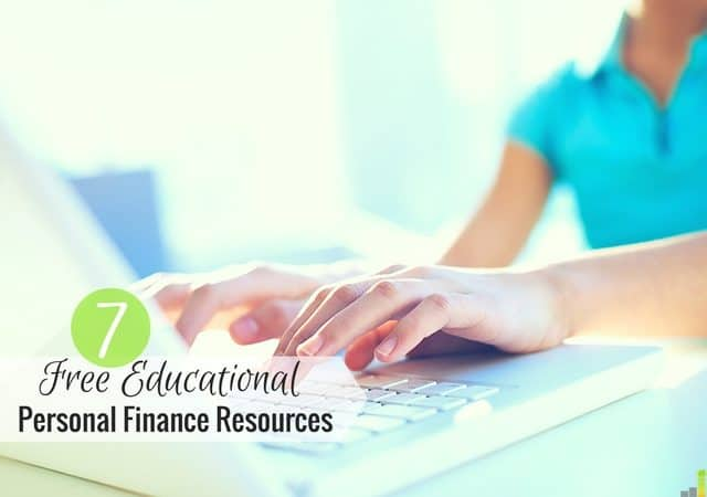 Free educational personal finance resources can be a great way to help you manage your money. Here are 7 of my favorite tools to help get you started.