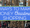 You can make money Christmas shopping in you know what you're doing. I share some great ways to make some extra cash during the Holiday season and beyond.