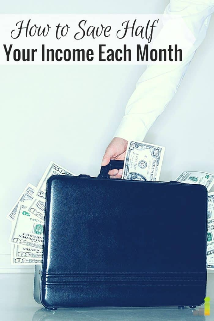 We save 50% of our variable income each month. It seems impossible, but is very possible. I share simple tricks we use to save half our income each month.