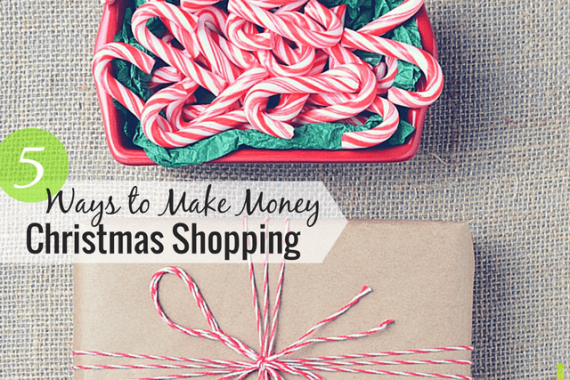 You can make money Christmas shopping if you know what you're doing. I share some 5 great ways to make some extra cash during the Holiday season and beyond.