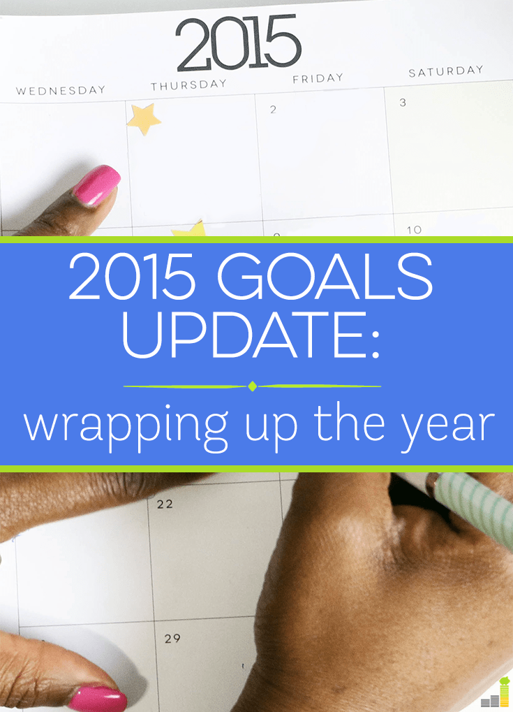 It's the end of 2015, which means it's time for another goals update. It has been a good year overall and looking forward to killing it again next year.