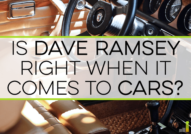 Dave Ramsey thinks you should buy cars in all cash. I used to think that was the best thing to do, but wonder if a payment is ok if you invest the cash.
