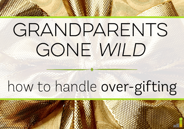 Over-gifting can be common during the holidays. Here are simple ways to manage over-gifting by grandparents and not hurt their feelings along the way.