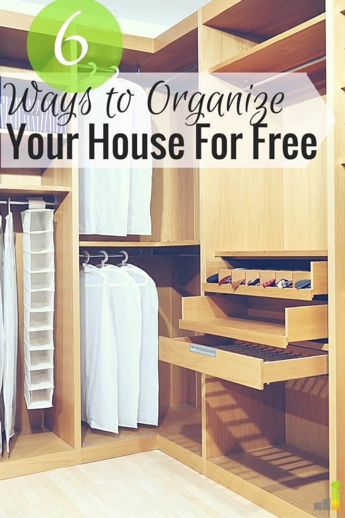 You can organize your house for free in many ways. If you don't have budget to organize your house here are 6 simple tips to get started for little.