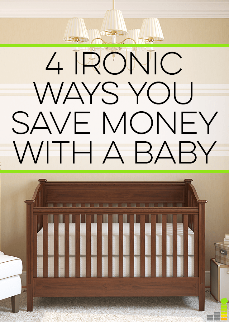 It is possible to save money when you have a baby though many don't realize it. Here are 4 ironic ways I saved money when I had my daughter.