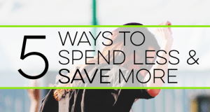 Do you want to spend less but consider yourself a natural spender? Here are 5 ways to spend less and save more so you can pursue financial independence.