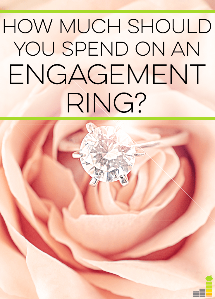 An engagement ring costs a lot of money