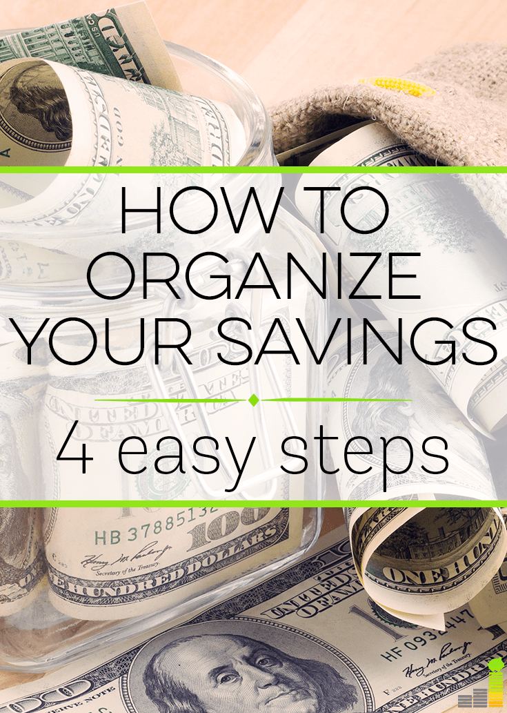 How to Organize Your Savings – 4 Easy Steps