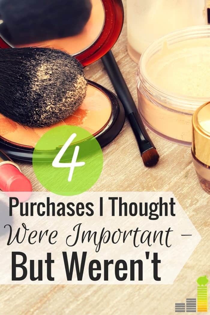 What purchases have you made in the past that no longer feel important? Here are 4 things I've forgotten in an effort to save money every month.