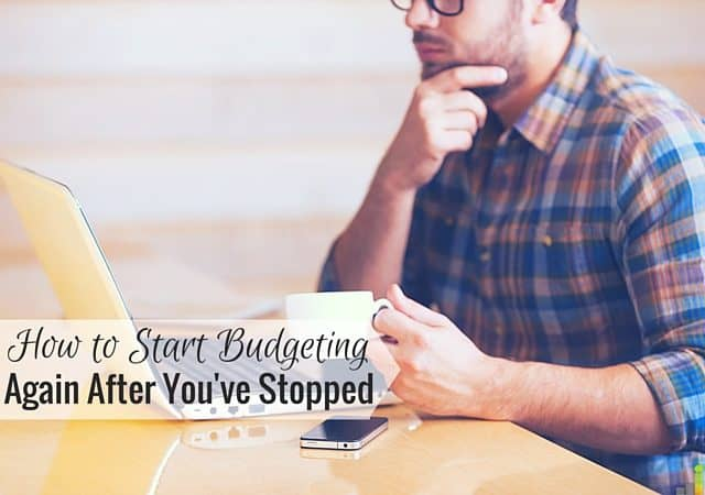 Budgeting is definitely a process, and if you're new to it, it can sometimes be disheartening. Here's how to start budgeting again after you've stopped.