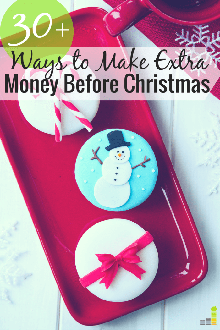 Want to make extra money before Christmas but don't know how. Here are 33 ways to earn extra money before the holidays with little to no skill.