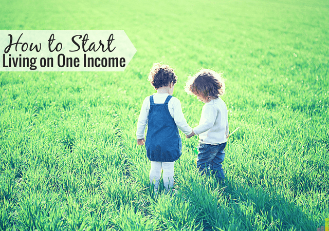Want to start living on one income but don't know how to start? Here are 4 things my husband and I did to live on one income instead of two.