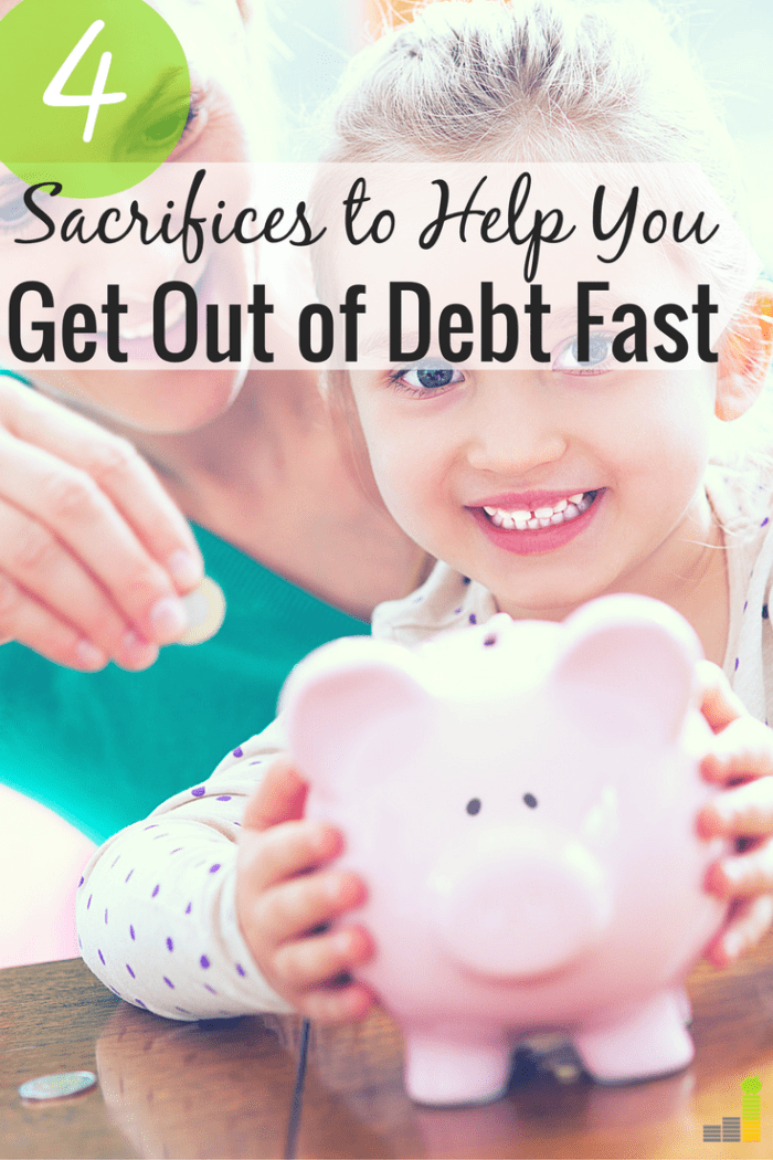 Need to get out of debt, but don't know what else to cut? Here are 4 things you can sacrifice to pay off debt faster and become financially stable.
