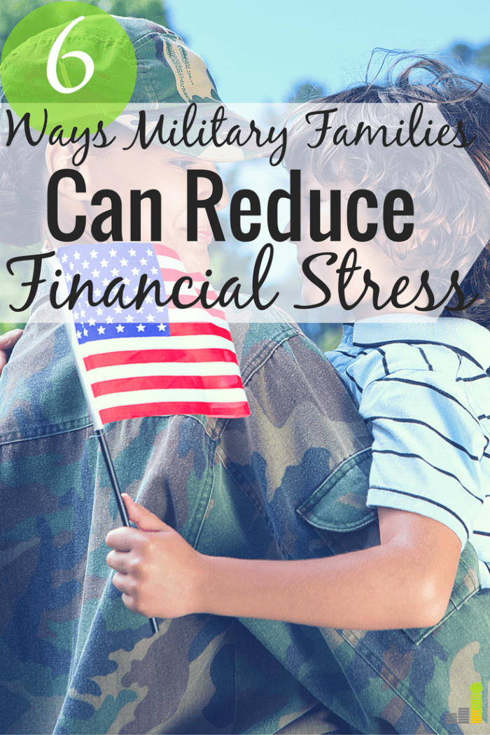 Military families face unique challenges, namely financial. Here are 6 ways to reduce financial stress in you're in the military and be financially stable.