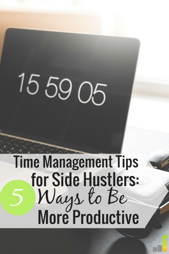 Time management for side hustlers can be a challenge, at best. Here are 5 ways I manage my time so I can get more done and make more money.