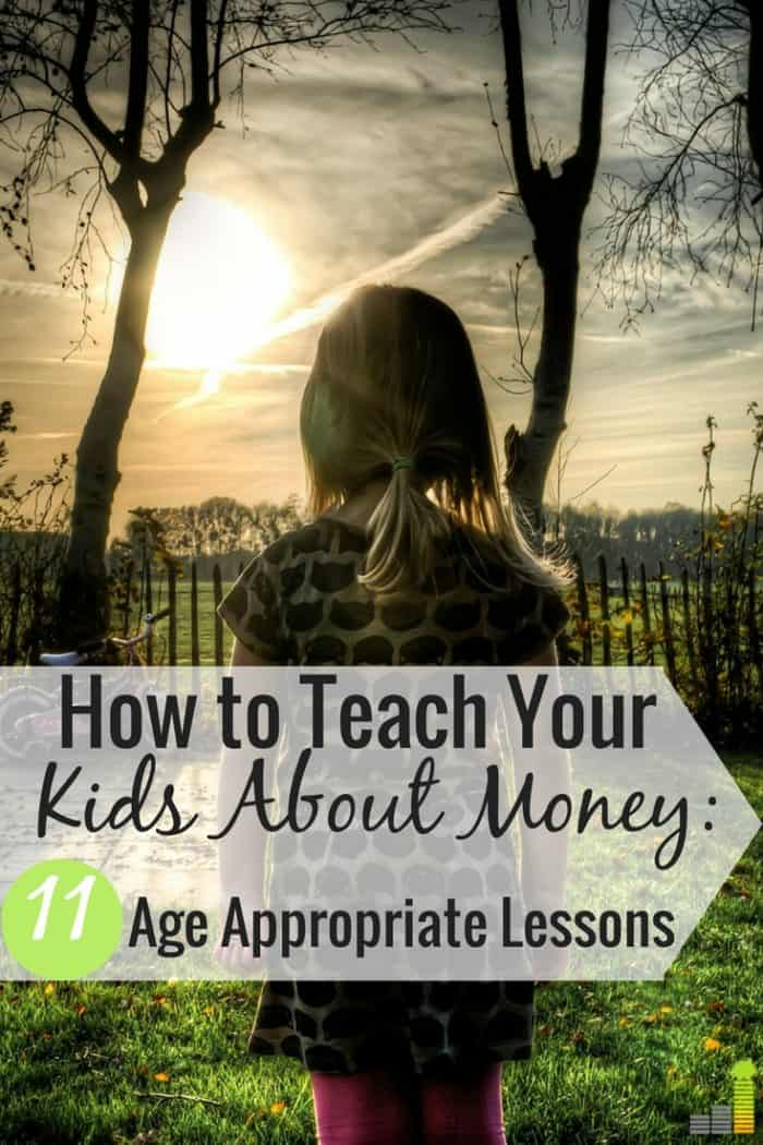 Money lessons for your children may seem overwhelming, but they're not. Here are 11, simple age-appropriate ways to teach your kids about money.