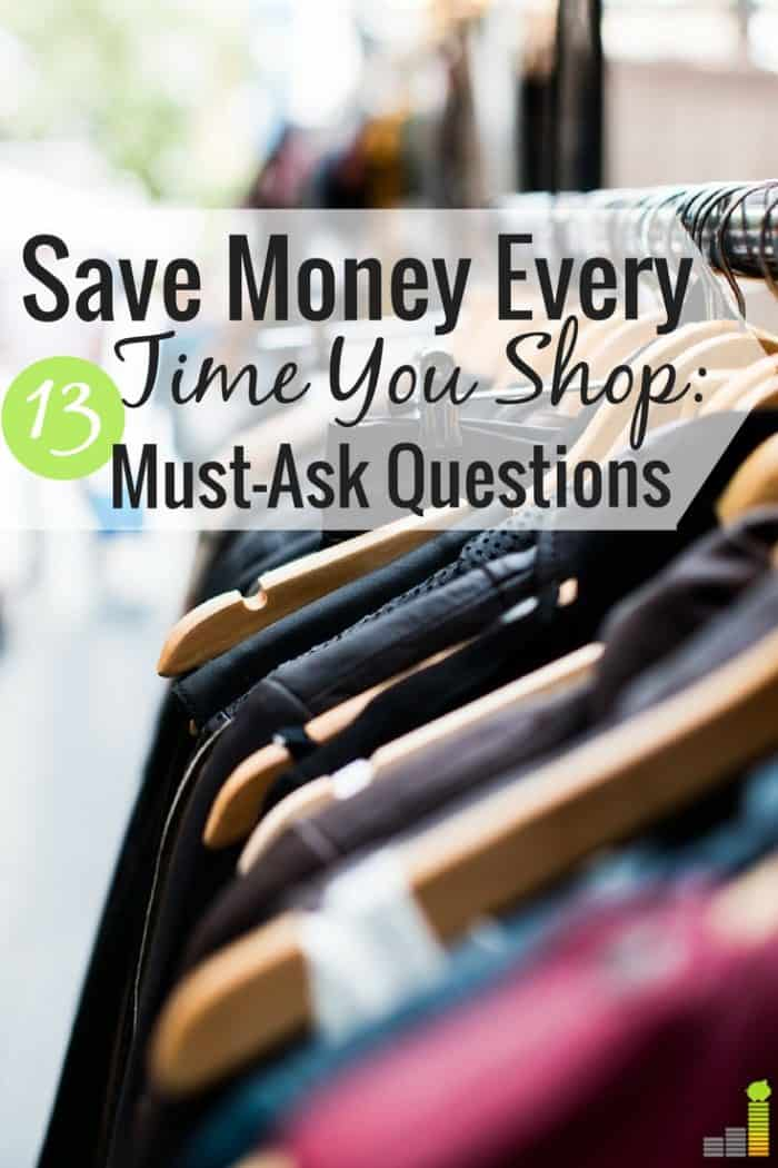Large purchases can easily throw you off track. Here are 13 questions to ask yourself before making a large purchase to help you not overspend.
