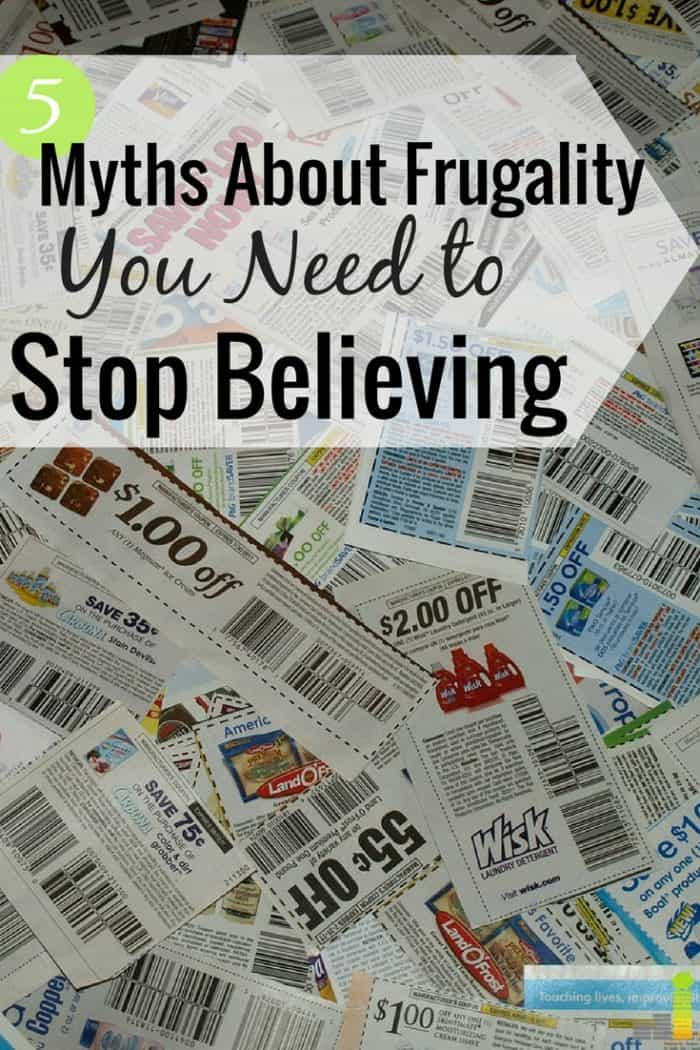 Many think frugality means one thing, when it really doesn't. Here are 5 myths about frugality not to fall for and how to truly save money for a purpose.