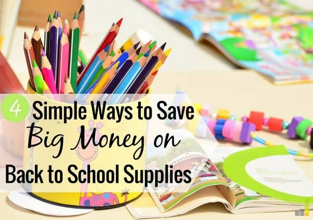 Back to school costs can easily get out of hand, but they don't have to. Here are 4 ways to save money on back to school supplies and saving your budget.