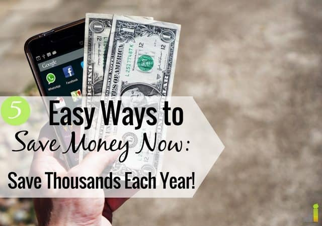 Want to save money now but don't know where to start? Here are 5 things you can start spending less on to save thousands each year.