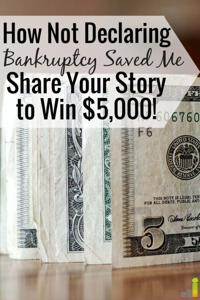 My smartest financial decision was not declaring bankruptcy. It's why I'm where I'm at today. Read how you can win $5,000 and the impact of sound decisions.