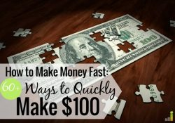 You can make $100 fast in many ways if you're creative. Here are 61 ways to make money fast and how you can use that to grow a sustainable side hustle.