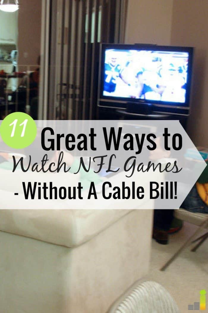Here's how to watch NFL games without cable and save big money. I share 11 ways to watch NFL games online and still see your favorite team each week.