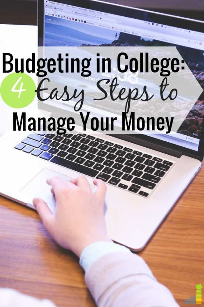 You can start a budget in college with little effort. Here are 4 ways to budget in college so you can have fun and grow your money at the same time.