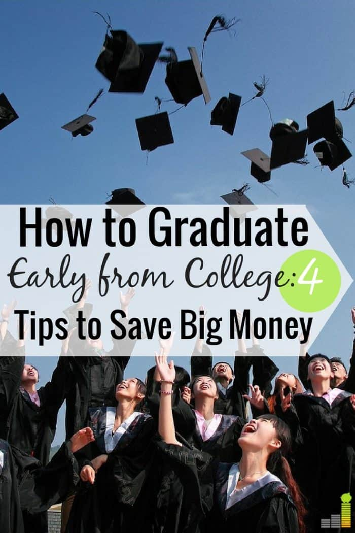 You can save money on college many ways, but I think graduating a semester early is best. Here's how I graduated early and how it helped me save money.