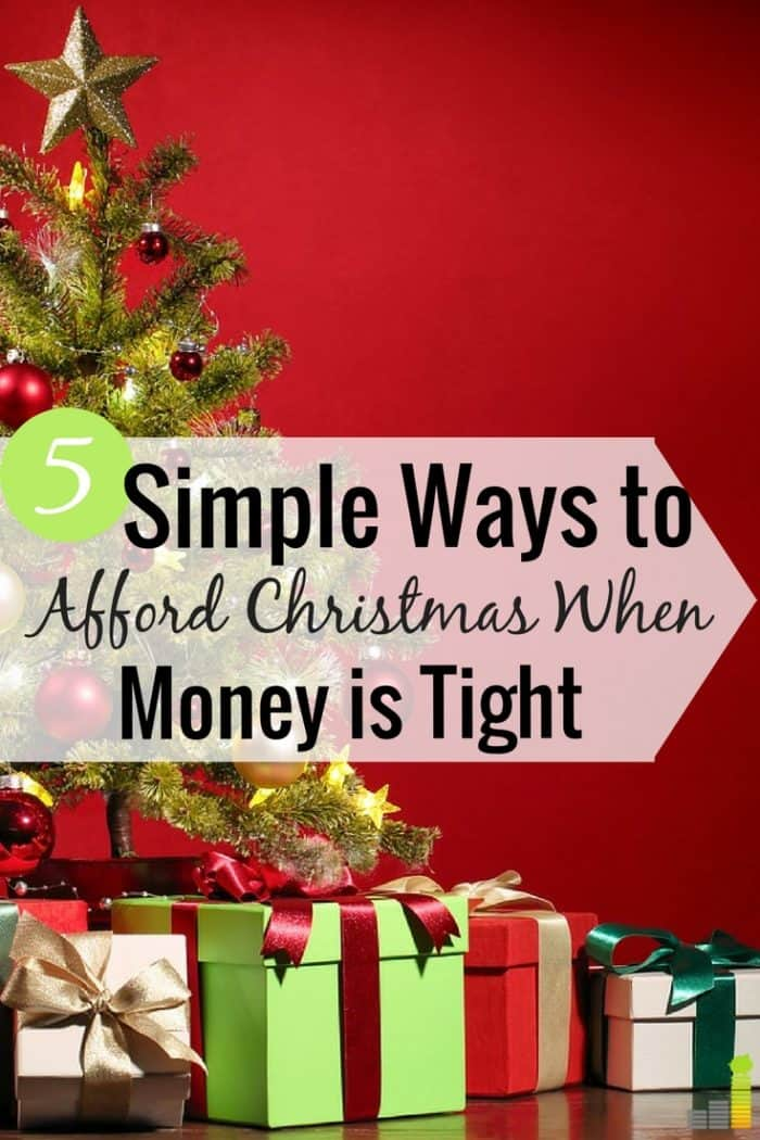 Don't know how to afford Christmas because money is tight? Here are 5 ways to afford Christmas presents when on a limited budget.