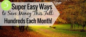 Want the top ways to save money this fall? My 5 ways to save money this fall are tips anyone can follow to add hundreds to their budget this fall.
