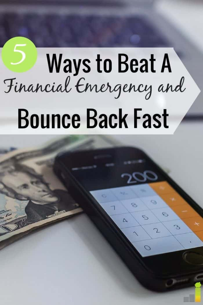 A financial emergency can hit any of us. Here are 5 steps to follow when you face an emergency that help you bounce back and get back on your feet.