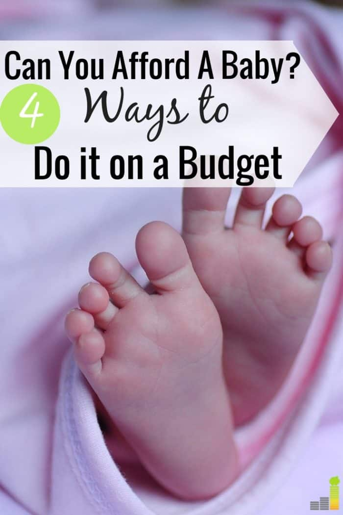 Wondering if you can afford a baby? Many think it's expensive to have a baby, especially in the first year. Here are 4 simple tips to save money.