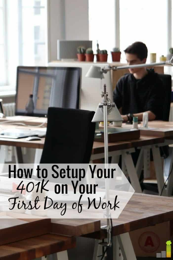 It can be difficult to set up your first 401k, but you can do it simply. Here's how to successfully set up your 401k on your first day of work.