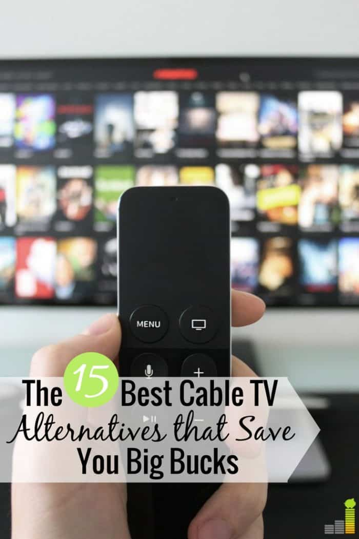 The best alternatives to cable TV help you save big money and still watch what you want. Here are the 15 cheapest alternatives to cable that save money.
