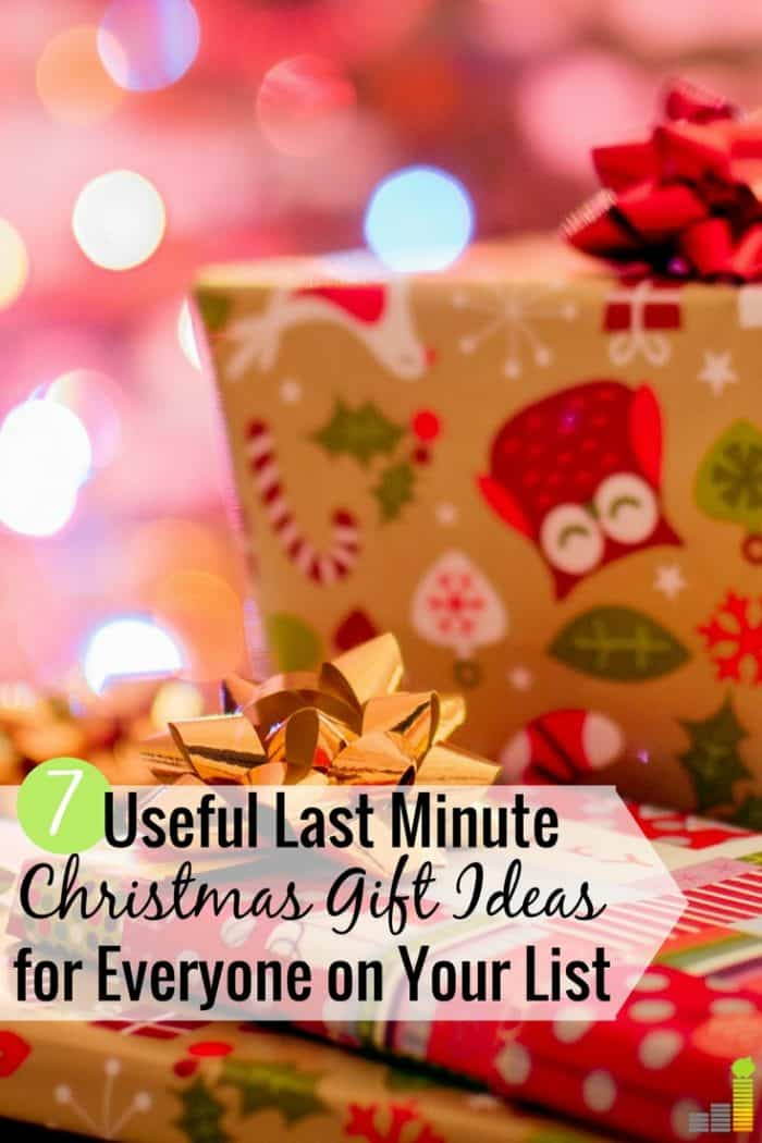 Useful last minute Christmas gift ideas can be hard to find when on a budget. Here are 7 great last minute gifts that will make everyone on your list happy.