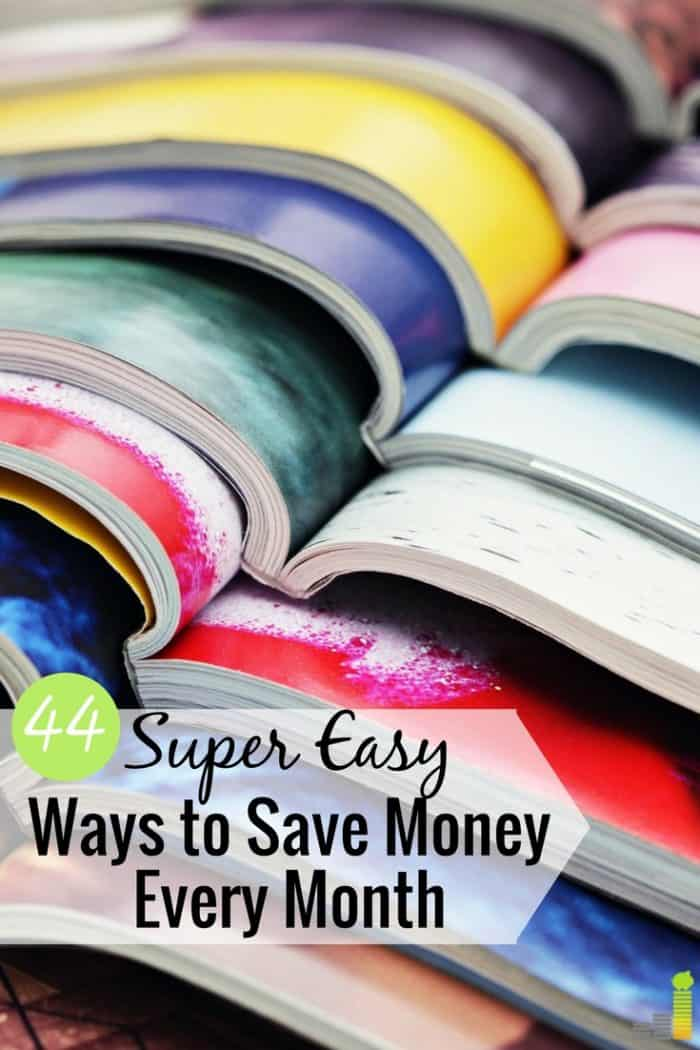 Many easy ways to save money take little work. Here are 44 simple ways to save more money each month that anyone can do to pad their wallet.